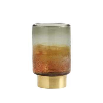 Glass Lantern Multi-Colour, Medium (H20 x W12 x D12cm)