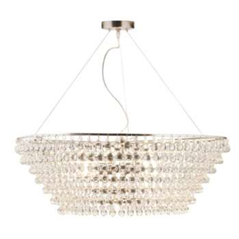 Glass Orb Chandelier Extra Large - Clear
