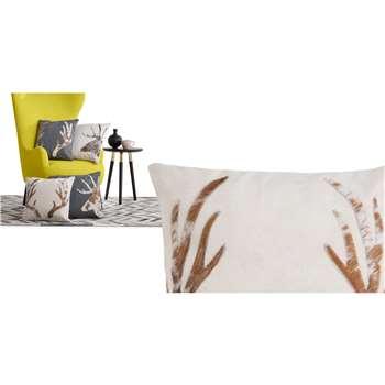 Glencoe Antler Cushion, Cream (45 x 45cm)