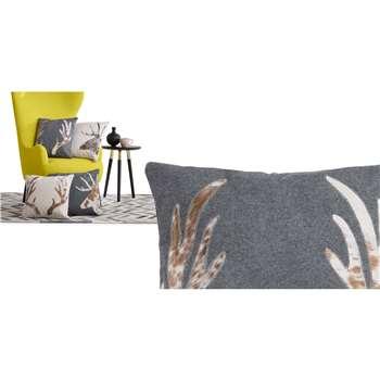Glencoe Antler Cushion, Grey (45 x 45cm)