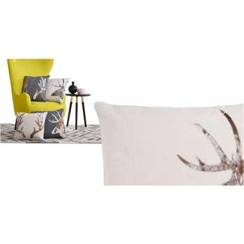 Glencoe Stag Cushion, Cream (45 x 45cm)
