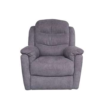Glenn Manual Charcoal Recliner Chair (105 x 86cm)