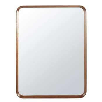 GLENN Paulownia Mirror with Rounded Edges (H120 x W90 x D8.5cm)
