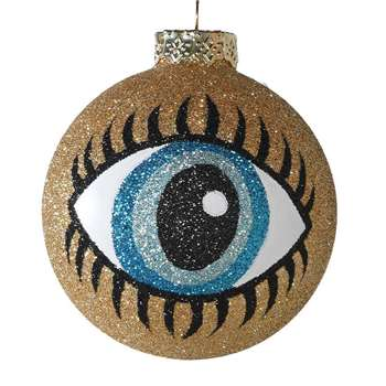 Glitter Eye Bauble (W7 x D7cm)