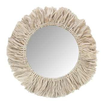 Global Explorer - Fringed Mirror (Diameter 57.5cm)