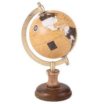 Globe Figurine (H23 x W13 x D13cm)