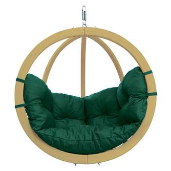 Globo Garden Hanging Chair in Green (H121 x W121cm)