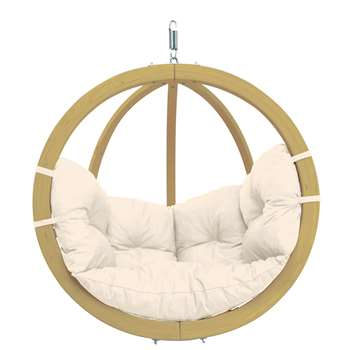 Globo Garden Hanging Chair in Natura Cream (H121 x W121cm)
