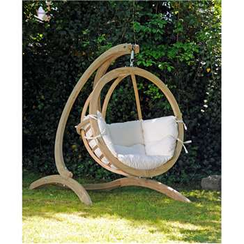 Globo Hanging Chair & Stand in Natural (136 x 170cm)