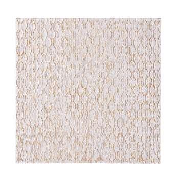 GOA White Carved Panel (91.5 x 91.5cm)