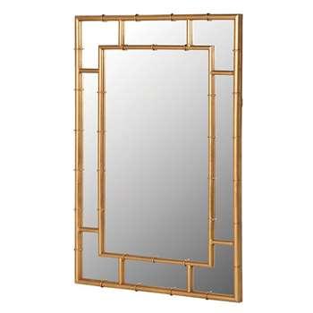 Gold Bamboo Mirror (H100 x W70cm)
