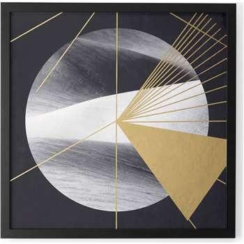Gold Desert, Framed Print (50 x 50cm)