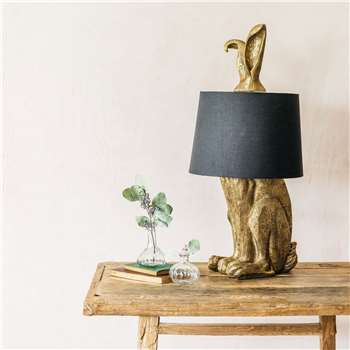 Gold Hetty Hare Table Lamp (H76 x W24 x D39cm)