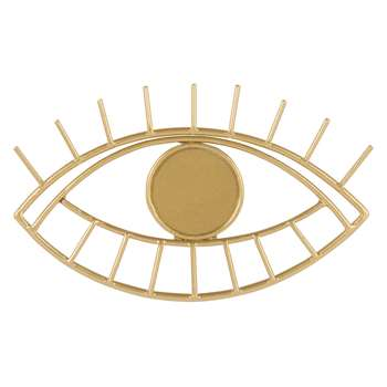 Gold Metal Eye Coat Hook (H2.5 x W13 x D8cm)
