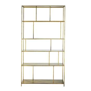 Gold Metal Shelf Simply (H200 x W107 x D35cm)