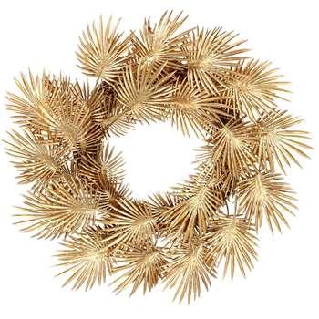 Gold Palm Leaf Wreath (H60 x W60 x D12cm)