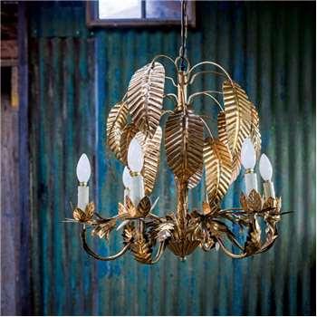Gold Palm Tree Chandelier (52 x 62cm)