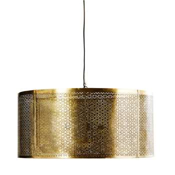MASALA - Gold Etched Metal Pendant (H42 x W77 x D77cm)