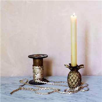 Gold Pineapple Candle Holder (H9 x W8 x D8cm)