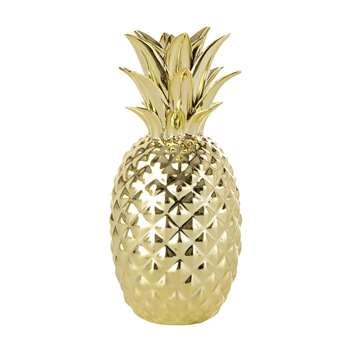 Gold pineapple ornament (23.5 x 10.5cm)