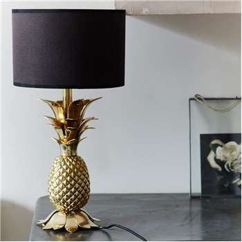 Gold Pineapple Lamp Base (H38 x W15 x D15cm)
