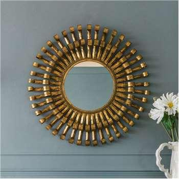 Gold Roll Mirror (90 x 90cm)