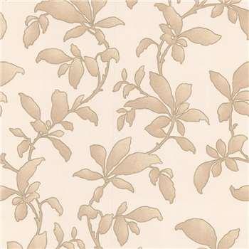 Gold Sarra Premier Wallpaper, Ivory