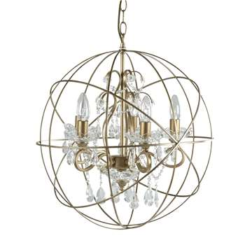 Gold Shamley Sphere Chandelier (50 x 50cm)