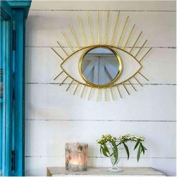 Golden Eye Mirror (H38 x W36cm)