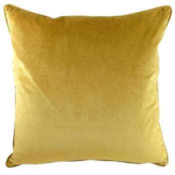 Golden Ochre Opulence Cushion (H43 x W43cm)