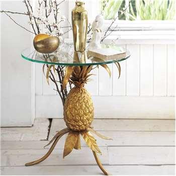 Golden Pineapple Table (54 x 55cm)