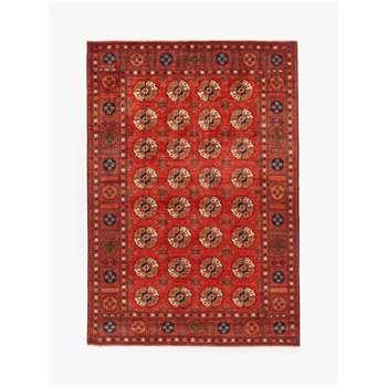Gooch Luxury Hand Knotted Ersari Rug, Red (H195 x W295cm)