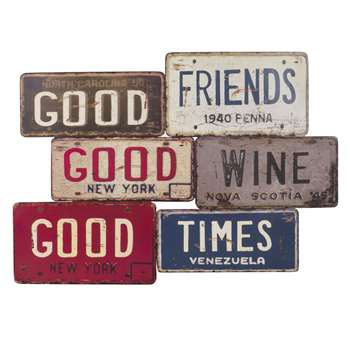 GOOD FRIENDS Antique Metal Plaque (49 x 69cm)