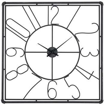 GORDON black metal clock (100 x 100cm)
