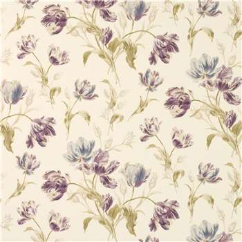 Gosford Meadow Plum Floral Wallpaper