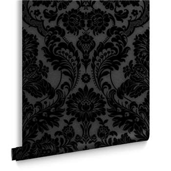 Gothic Damask Noir Wallpaper (H1000 x W52cm)