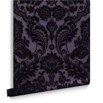 Gothic Damask Plum Wallpaper (H1000 x W52cm)