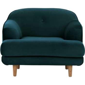 Gracie Armchair, Seafoam Blue Velvet (80 x 103cm)