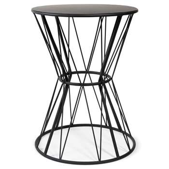 GRAFIK black metal end table (45 x 33cm)