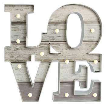 Graham & Brown Lit Love Wall Art (39 x 39cm)