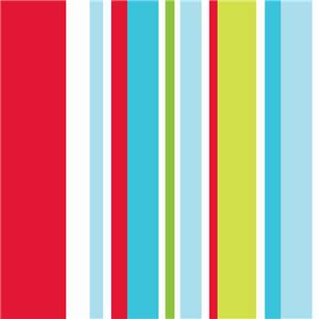 Graham & Brown Long Island Stripe Red and Blue and Green Wallpaper (H1000 x W52cm)