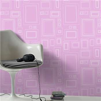 Graham & Brown Pink Frames Wallpaper