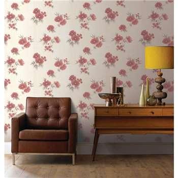 Graham & Brown Red Rome Wallpaper