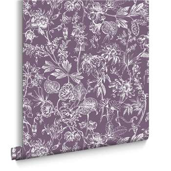 Graham & Brown Stroma Mulberry Wallpaper (H1000 x W52cm)