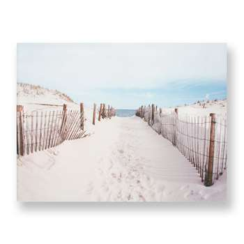 Graham & Brown Walk To The Beach Printed Canvas (H60 x W80 x D3cm)