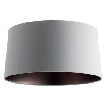Grande Bronze Lined Lampshade, Grey (H19 x W38 x D35cm)