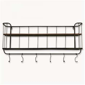 Granville Long Metal Shelf Unit (30.5 x 80cm)