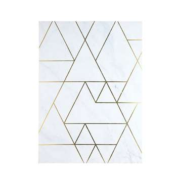 GRAPHIC CHIC White and Gold Marble-Effect Graphic Artwork (80 x 111cm)