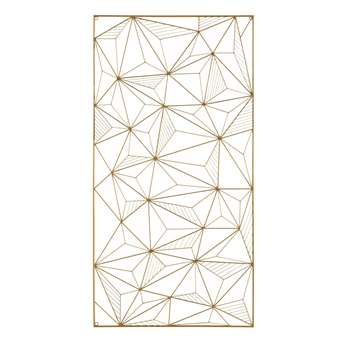GRAPHIC GOLD Gold Metal Wire Wall Art (119.5 x 61cm)