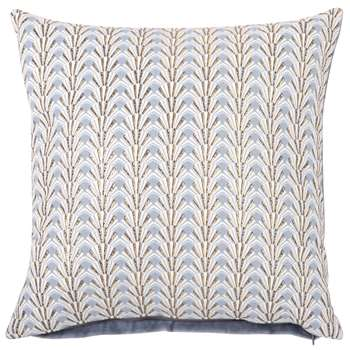 Graphic Print Blue Cotton Cushion Cover (H40 x W40cm)